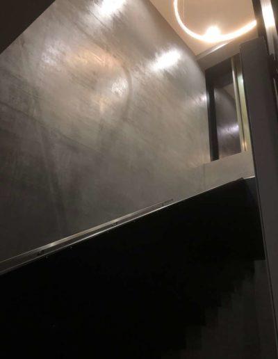Cementový povrch Facebeton,, omyvatelná úprava pohled na schody 2 lázeňský dům Teplice